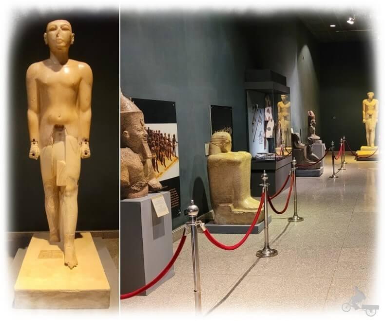 Estatua de Seti I en alabastro en museo de Luxor